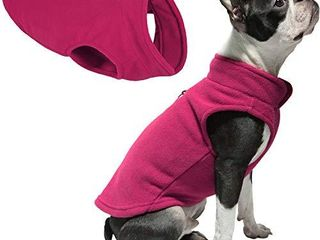 Gooby Dog Fleece Vest   Fuchsia  Medium   Pullover Dog Jacket with leash Ring   Winter Small Dog Sweater   Warm Dog Clothes for Small Dogs Girl or Boy for Indoor and Outdoor Use