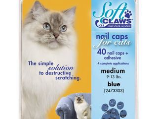Soft Claws for Cats   ClS  Cleat lock System  Size Medium  Color Blue