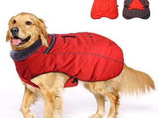 Winter Coats for Dogs with Bag Thickened Reflective Windproof Waterproof Design Dog Cold life Jacket Fleece Vest Apparel for Small Medium large Pet