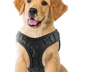 Comfort Fit  Soft Padded and lightweight Dog Harness  Step in Dog Vest Harness for Small   Medium Dogs  Black  M  Chest 16 18