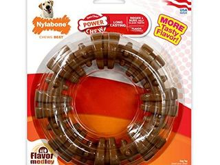 Nylabone Power Chew Textured Dog Chew Ring Toy Flavor Medley Flavor X large Souper   50  lbs