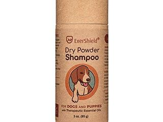 Dog Dry Shampoo   powder formula that contains therapeutic essential oils  Waterless pet shampoo   freshen smelly dogs  anxious dogs