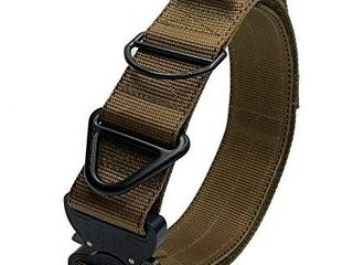 Miles Tactical K9 Cobra Dog Collar for large Dogs Heavy Duty  large with Handle  Coyote Brown