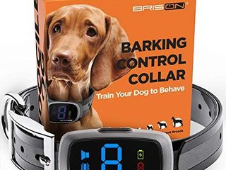 BRISON Dog Bark Collar   3 Modes Beep Vibration   Rechargeable Waterproof Anti Bark Collar for Dogs  Grey