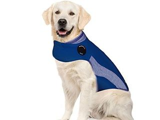 ThunderShirt Polo Dog Anxiety Jacket   Vet Recommended Calming Solution Vest for Fireworks  Thunder  Travel    Separation   Blue  Xl