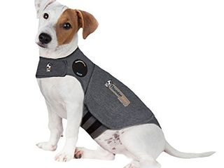ThunderShirt Classic Dog Anxiety Jacket   Vet Recommended Calming Solution Vest for Fireworks  Thunder  Travel    Separation   Heather Gray  Small