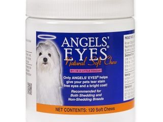 Angels  Eyes Natural Tear Stain Care for Dogs  Chicken Formula  120 Soft Chews