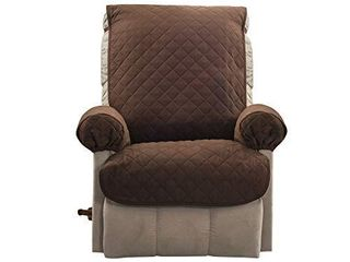 Zenna Home EFCPRMFCB Reversible Furniture Cover Petcover  Recliner  Beige Brown