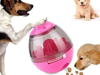 THOUSAND Paper Cranes Dog Treat Ball  Roly Poly Treat Toy  Interactive Pet Food Dispenser for Dog   Cat IQ Puzzle  Feeding  Chewing  Training  Playing Slow Feeder Pink