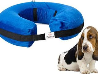 GENTlY USED SEE PICTURE  Inflatable Dog Collar   Recovery Cone   After Pet Surgery   Prevent Dogs from Biting   Scratching   Adjustable Thick Strap   Soft Comfortable Donut  X large