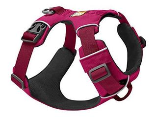 RUFFWEAR  Front Range Dog Harness  Reflective and Padded Harness for Training and Everyday  Hibiscus Pink  Medium