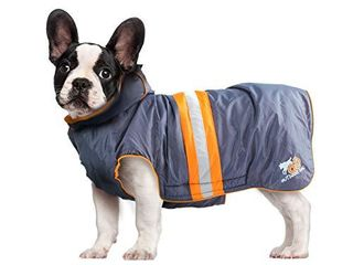 All for Paws Outdoor Cozy Dog Winter Coat  Windshield lifejacket Coat for Dogs with Refective Strips  Orange S