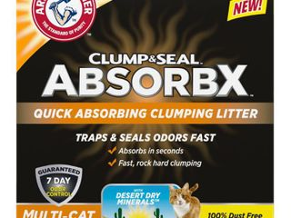 Arm   Hammer Clump and Seal AbsorbX Clumping Cat litter   15lb