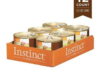 Instinct Original Grain Free Real Venison Recipe Natural Wet Canned Cat Food by Nature s Variety  5 5 oz  Cans  Case of 12