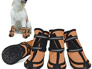 Dog Shoes for large Dogs Winter Snow Dog Booties with Adjustable Straps Rugged Anti Slip Sole Paw   Sports Running Hiking Pet Dog Boots Protectors Comfortable Fit for Medium large Dog