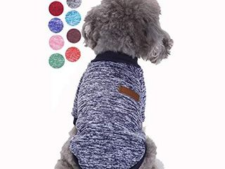 Bwealth Small Dog Clothes  Dog Sweaters for Small Dogs  Cute Classic Warm Pet Sweaters for Dogs Girls Boys  Cat Sweater Dog Sweatshirt Winter Coat Apparel for Small Dog Puppy Kitten Cat  M  Navy blue