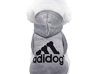 Moolecole Pet Sports Apparel Cat   Dog Cold Weather Coats Dog Hoodies Pet Sweaters  S  Grey