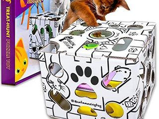 Cat Amazing Sliders Interactive Treat Puzzle Cat Toy Active Food Puzzle Feeder