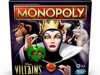 Hasbro Gaming Monopoly  Disney Villains Edition Board Game for Kids Ages 8 and Up  Play as a Classic Disney Villain