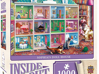 MASTER PIECES INSIDE OUT SOPHIA S DOll HOUSE 1000 JIGSAW PUZZlE  BONUS POSTER INClUDED