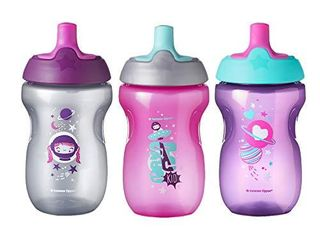 Tommee Tippee Sportee Toddler Sippy Cup   12  months  10 Ounce  Pack of 3  Girl  Pink