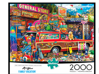 Family Vacation 2000 Piece Puzzle