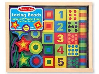 Melissa   Doug lacing Beads in a Box