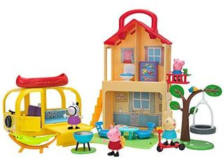 Peppa Pig Pop n Playhouse and Play n Go Campervan Combo Pack  Includes 4 Character Toy Figures Plus Playset Accessories a Toys for Kids   Amazon Exclusive