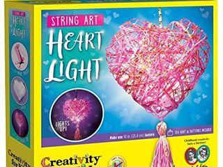 Creativity for Kids String Art Heart light   Mini String Art Craft Kit   String Crafts for Kids