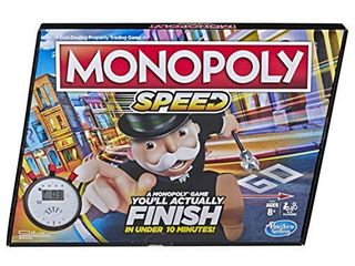 Monopoly Speed Board Game  Play in Under 10 Minutes  Fast Playing Board Game for Ages 8 and Up  Game for 2 4 Players