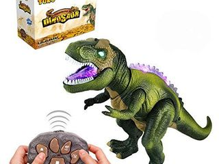 Tuko Remote Conctrol Jurassic World Dinosaur Toys lED light Up Walking and Roaring Realistic t rex Dinosaur Toys for 3 12 Years Old Boys and Girls  RC Dino