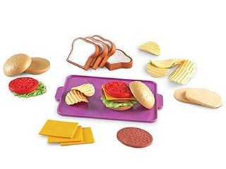 learning Resources New Sprouts Super Sandwich Set  Pretend Play  Play Food Set  Toddler Outdoor Toys  Pretend Picnic  29 Pieces  Ages 18 mos