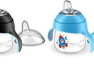 Philips Avent My little Sippy Cup  Blue Black  Pack of 2