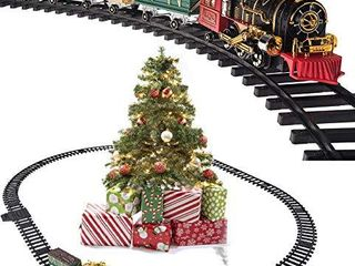Prextex Christmas Train Set  Around The Christmas Tree with Real Smoke  Music   lights