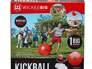 Wicked Big Sports Kickball Supersized Kickball Outdoor Sport Tailgate Backyard Beach Game Fun for All