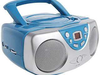 Sylvania SRCD243 Portable CD Player with AM FM Radio  Boombox  Blue