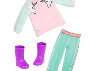 Glitter Girls Dolls by Battat Unicorn Dreaming Fashion Outfit  Pink  14 inch Doll Clothes and Accessories for Kids Ages 3 and Up Children s Toys