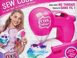 Cool Maker  Sew Cool Sewing Machine with 5 Trendy Projects and Fabric  for Kids 6 Aged and up