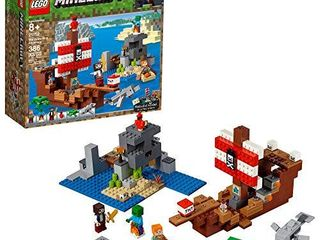 lEGO Minecraft The Pirate Ship Adventure 21152 Building Kit  386 Pieces