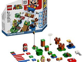 lEGO Super Mario Adventures with Mario Starter Course 71360 Building Kit  Interactive Set Featuring Mario  Bowser Jr  and Goomba Figures  New 2020  231 Pieces
