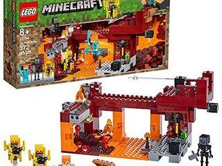 lEGO Minecraft The Blaze Bridge 21154 Building Kit  372 Pieces
