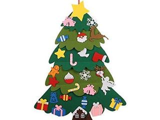 Berry USA Felt Christmas Tree  37 Inch DIY Christmas Tree with 26Pcs Ornaments for Kids Xmas Gifts Home Door Wall Decoration