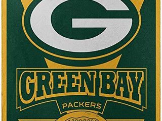 Officially licensed NFl Green Bay Packers  Marque  Printed Fleece Throw Blanket  50  x 60  Multi Color