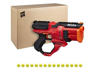 Nerf Rival Roundhouse XX 1500 Red Blaster   Clear Rotating Chamber loads Rounds into Barrel   5 Integrated Magazines  15 Nerf Rival Rounds