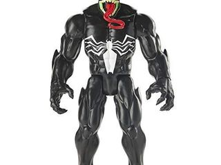 Spider Man Maximum Venom Titan Hero Venom Action Figure  Inspired by The Marvel Universe  Blast Gear Compatible Back Port  Ages 4 and Up