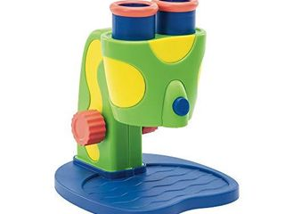 Educational Insights GeoSafari Jr  My First Microscope  Easter Gift  Science Toys  Extra large Dual Eyepieces  Preschool STEM Toy  Ages 3