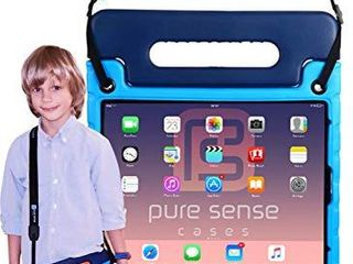 Pure Sense Buddy  Anti Microbial Rugged Kids Case  for iPad Pro 11 inch 2018 only   Full Kit  Tablet Case  Shoulder Strap  Screen Protector  Spray  Blue