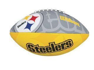 Wilson NFl Junior Team logo Football  Pittsburgh Steelers