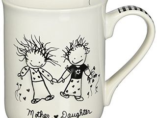 Enesco Children of The Inner light Daughter  from Mother  Stoneware Gift Mug  16 oz  4 25  H