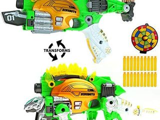 Big Mo s Toys Kids Gun   Soft Foam Bullet Kid Gift Dinosaur Transforms Shot Gun   1 Gun and 20 Bullets